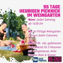 Heurigenpicknick im 95Tage Weingarten in Traun